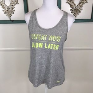 Nike Sweat Now Glow Later Womens Tank Large